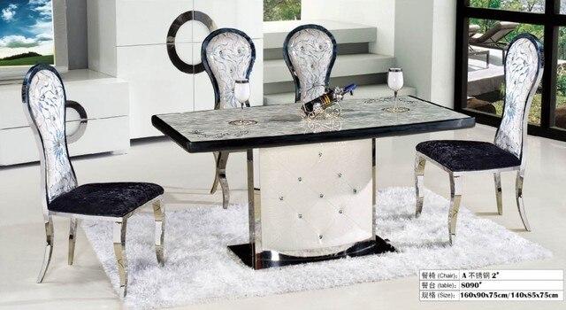 Mode salle à manger naturel marbre table à manger dans Table de ...