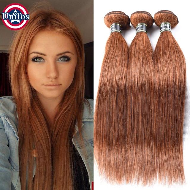 Auburn Brazilian Hair Straight Light Auburn 30 Auburn Straight