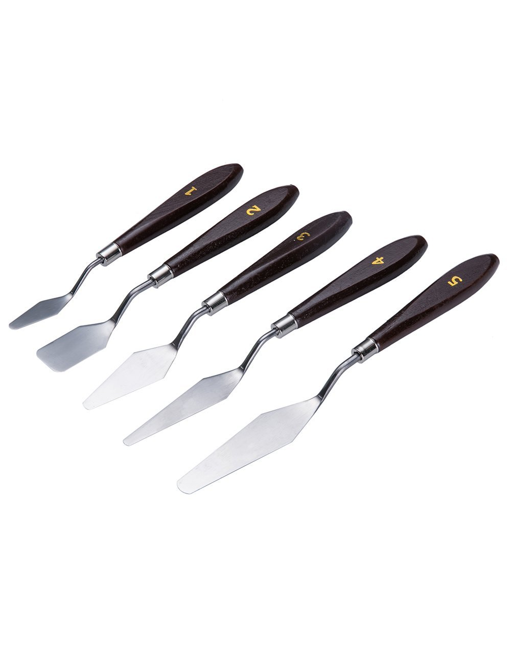 Online color mixer tool - Meeden 5 Pcs Professional Stainless Steel Palette Knife Mixing Scraper Spatula Knives For Artist Oil Painting Color Mixing