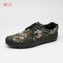 All Season Army Boots For Man Canvas Shoes Men Camouflage Work&Safety Military Tactical Desert Jungle 2019
