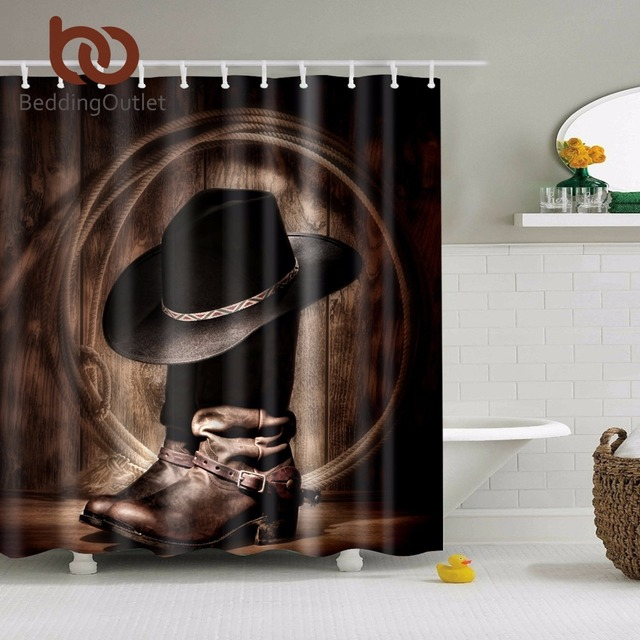 BeddingOutlet Cowboy Shower Curtain Waterproof 3d Polyester Fabric 71x71 For Home