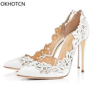 ffbf6c701f81 OKHOTCN Wedding Shoes High Heels Ladies Sexy Stiletto Women