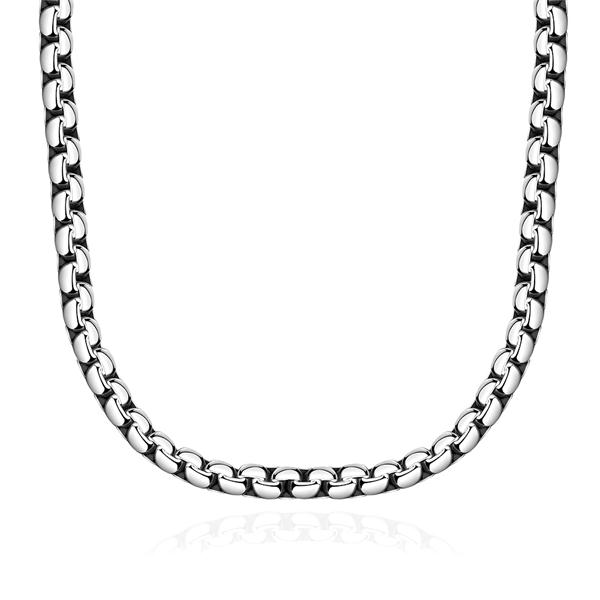 product 925 sterling silver necklace men Article 5 m flat side chain - 22 necklace sstainless steel fine fashion sales promotion YN066