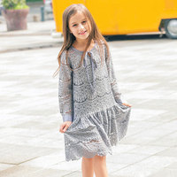 Teenage Dresses For Girls clothing elegant Girl Kids Long sleeve Princess Party Wedding dress Children costume68 10 12 14 16Year