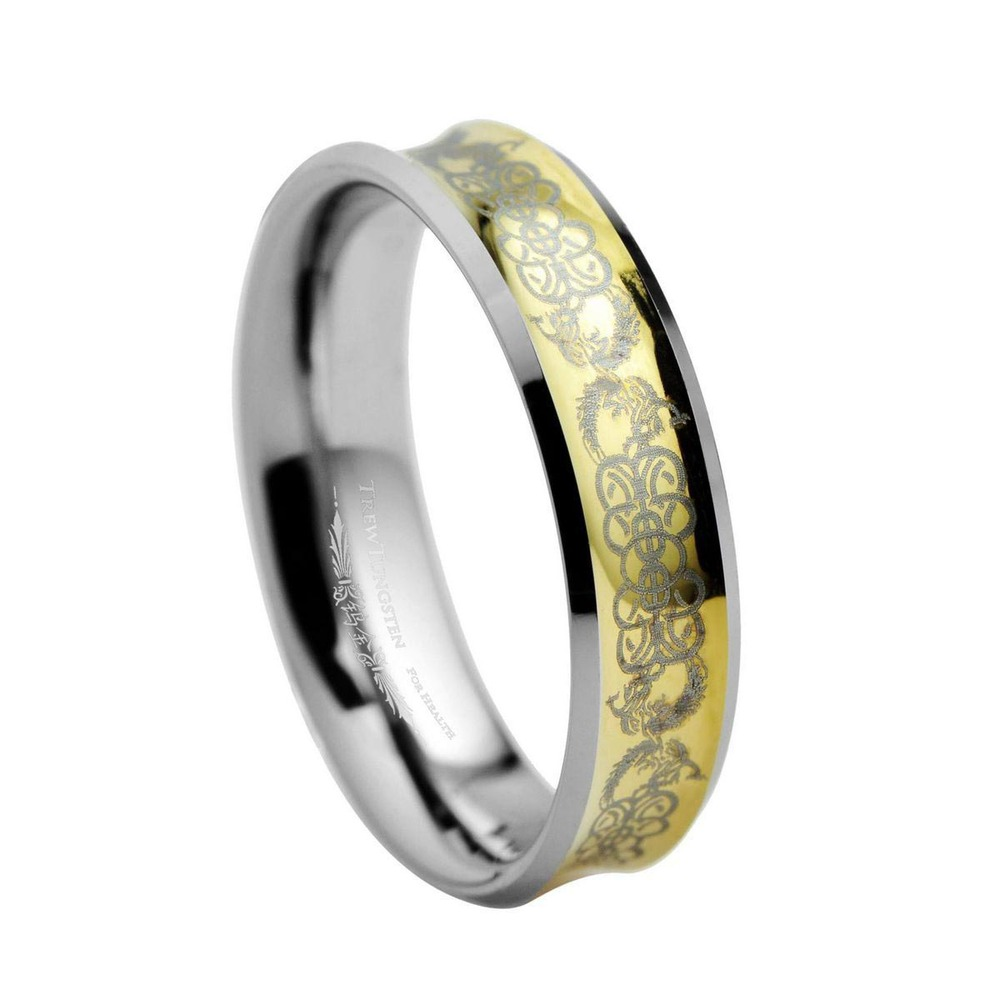 For lovers Engraved Concave Tungsten Ring Width - 5mm /TURI0017L