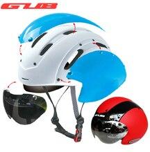 GUB Rowerów bike Cycling Kask Ultralight formowane integralnie MTB bike Szosowe Kask kask Z gogle TT Magnetic UV daszek