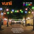 Гирлянда VUNJI G50  IP65 RGB Globe  млечная лампа  Подключаемая  для улицы  для свадьбы  вечеринки  красочная гирлянда ламп
