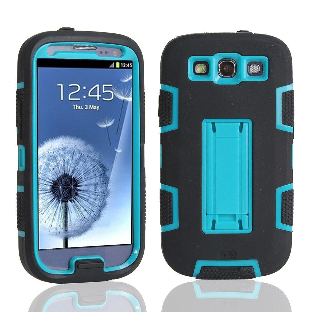 Pour Coque Samsung Galaxy S3 Cas Silicone TPU Couverture De PC Samsung Galaxy S3 Neo Case Heavy Duty Dur Téléphone Cas et accessoires