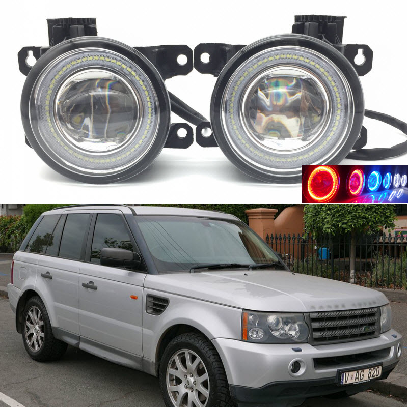 Car Styling 2 in 1 LED Angel Eyes DRL Daytime Running Lights Cut-Line Lens Fog Lamp for Range Rover Sport 2005-2012 for opel astra h gtc 2005 15 h11 wiring harness sockets wire connector switch 2 fog lights drl front bumper 5d lens led lamp