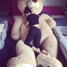 130 см большой Америка чучело медведя плюшевый медведь крышка плюшевые мягкие игрушки куклы наволочка(без вещи) для маленьких детей взрослых подарок