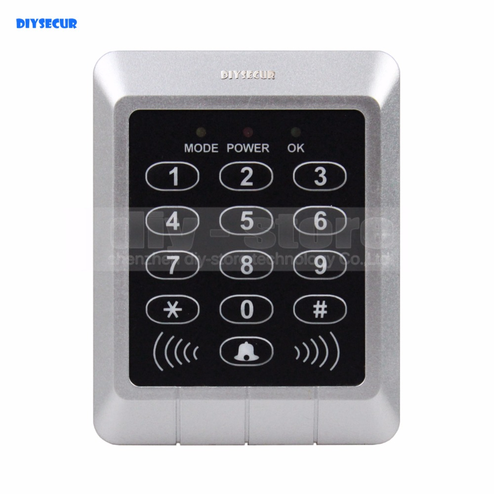 DIYSECUR Door RFID ID Card Reader Access Control Keypad + Free10 ID Key Fobs KS157