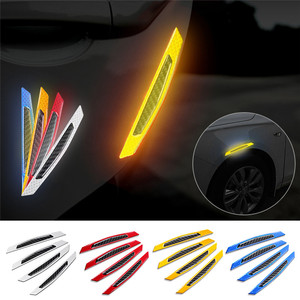 Image 1 - 4Pcs Car SUV Body Door Reflective Safety Durable Portable Convenient Useful Warning Anti Collision Sticker Protector#291259