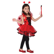 Lindo mariquita disfraz fantasia niñas kit princesa falda de la danza de halloween cosplay niños rojo mariquita de los niños dress party set(China)