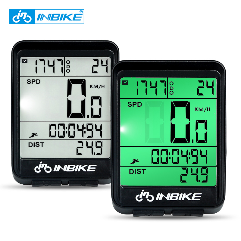 INBIKE Speedometer Watch Bicycle Computer Digital-Rate Waterproof Wireless And LED