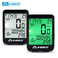 Ordinateur de vélo étanche INBIKE sans fil et filaire vtt vélo compteur kilométrique chronomètre compteur de vitesse montre LED débit numérique