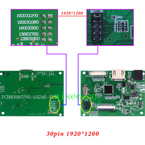 Image 2 - EDP Lcd Controller 30pin Board universal support 1280*800 1920 *1200 1920 *1080 1600*900 1366 *768 Display for Raspberry Pi