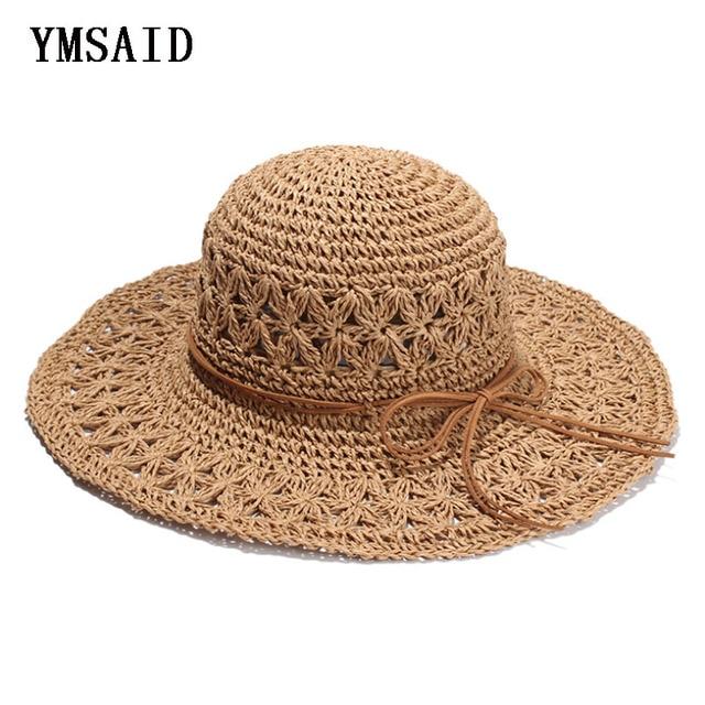 2018 nueva banda mujeres Crochet Hollow cúpula sombreros de verano para las  mujeres malla sombrero de 16cda3c2790
