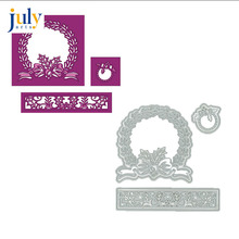 Julyarts Flower Garland Metal Cutting Dies Wreath Heart Stencils Voor DIY Scrapbooking Embossing Decoratie Craft