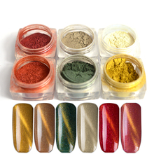 1 Bottle Nail Glitter Powder Cat Eyes Magnet 3d Magic Effect UV Gel Polish Dust Decoration Gold Pigment DIY Manicure SAND305