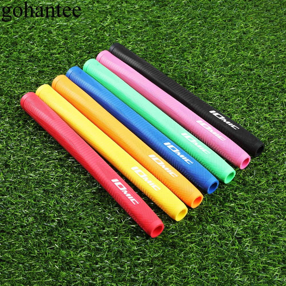 Gohantee 1 Pc Standard Elastomer Golf Grip With A Flat Top High Traction 260mm/10.2 Inch Absolute-X Putter Grip 7 Colors Golfing