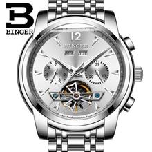 2017 NEW BINGER men s font b watch b font full Calendar Tourbillon sapphire multiple functions