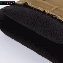 High Elastic Cotton Blend Thick Fleece Lined Pencil Pants