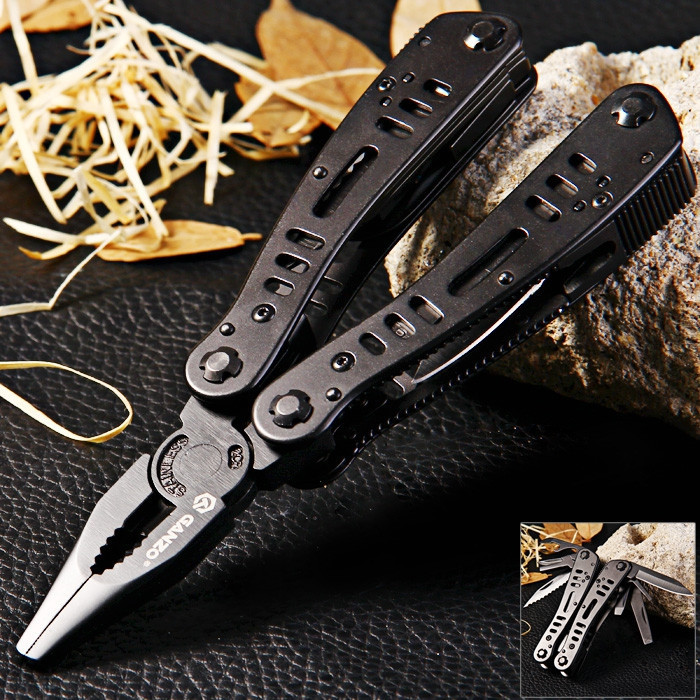 Ganzo G103 Multitool Pocket Folding Plier Camping Survival Knife Multi Tool Pliers Conbination Outdoor Hand Tools