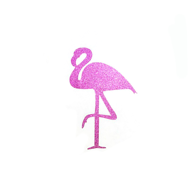 12pcs hawaiian rose pink flamingo stickers disposable cupcake box party decorativechina - Pink Flamingo Bath Decor