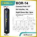 BOR-14 Ölbehälter sind mit entweder zwei oder drei anblick gläser für visuelle anzeige der ölstand