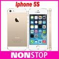 "Оригинальный iPhone 5s Разблокирована Apple 5s Смартфон 4.0 ""640x1136px A7 Двухъядерный 16 ГБ 32 ГБ 64 ГБ ROM IOS 9 3 Г WI-FI 8MP 1560 мАч"