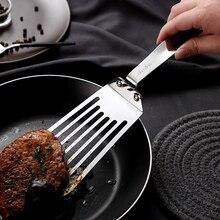 1 шт. жареные лопатка для стейков 304 нержавеющая сталь рыба теппаньяки Лопата плоский пирог омлет Пицца Инструменты для приготовления блинчиков высокого качества