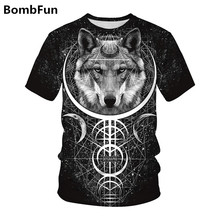 Men&Women Summer T-shirt Wolf t shirt 3d Print Animals t-shirts Hip Hop Motorcycle Punk Tees Couples High Quality Pullovers Tops