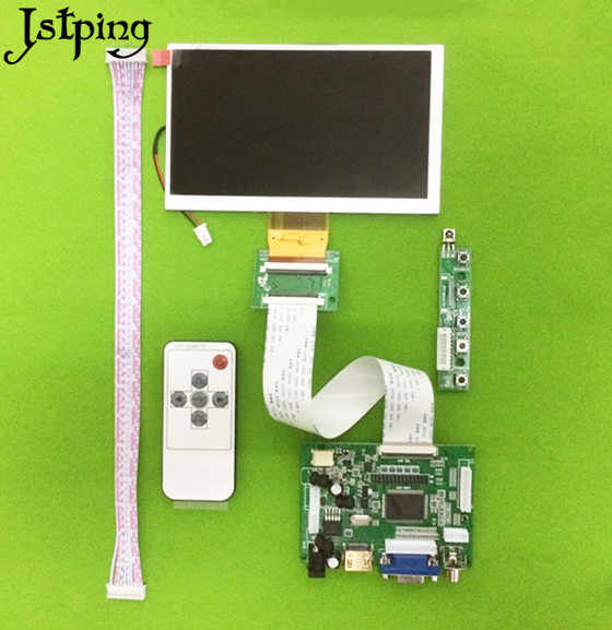 Jstping 6 zoll 800*480 HD LCD display screen Monitor TM060RDH01 Control Fahrer Bord HDMI + VGA + 2AV kit für Raspberry Pi diy panel