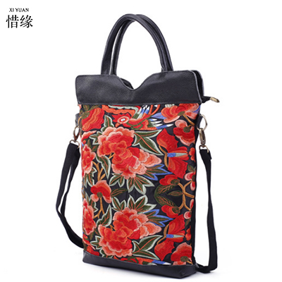 Vintage Embroidery Bucket Handbag national Coins Floral embroidered bag retro lady shoulder bag Travel Shopping Bag purple tote недорго, оригинальная цена