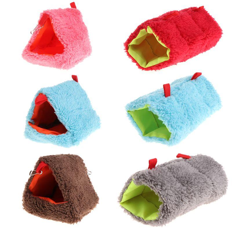 1Pc Hamster Nest Sleeping Bed Hanging Cage Fleece Waterproof Warm Winter Hammock Swing Toys Multi functional