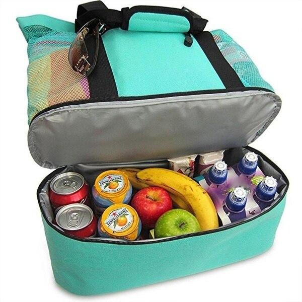 Au handheld almoço saco refrigerador piquenique saco