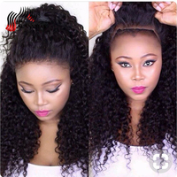 Sunnymay Full Lace Human Hair Wigs Kinky Curly Brazilian Virgin Hair Lace Wigs With Baby Hair Bleached Knots Pre Plcuked