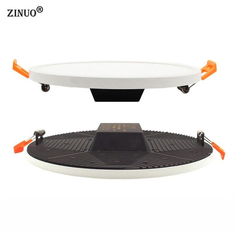 ZINUO 12 Вт светодиодный Панель потолочный светильник SMD4014 Комплексная Встраиваемая круглый светодиодный вниз огни для Кухня Ванная комната о...