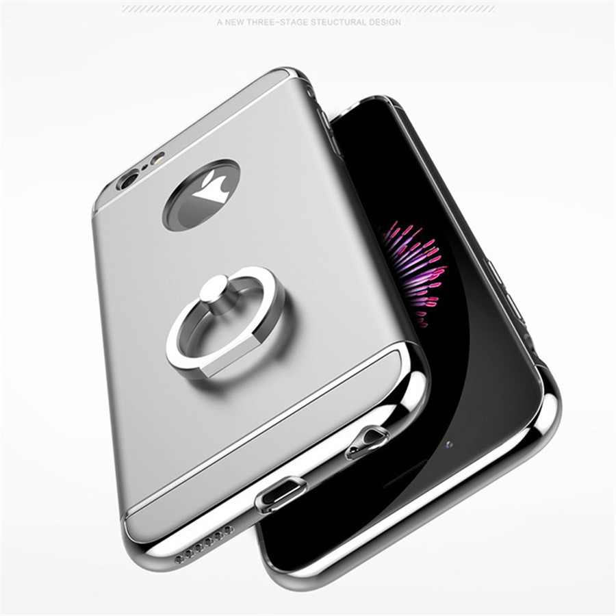 reputable site 005b4 c1646 US $3.47 42% OFF Aluminum Hybrid Armor Ring Phone Cover Case for iPhone 5S  Cover Scrub PC Back Case Protective Funda Para for iPhone 5 Cases-in Fitted  ...
