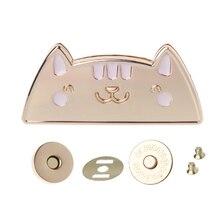 Милый Кот Магнитная застежка-молния кнопка оснастки пресс заклепки для кошельков сумка Закрытие DIY