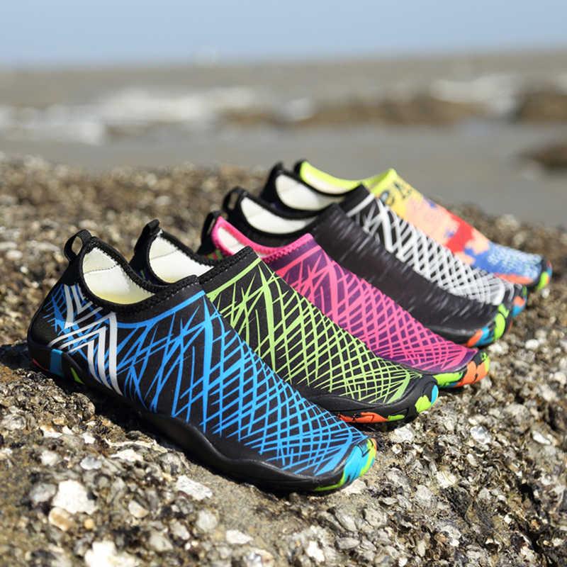 Zomer Ademend Sport Schoenen Mannen Vrouwen Strand Schoenen Sneldrogende Lichtgewicht Strand Joggen Zwemmen Wandelschoenen Koppels