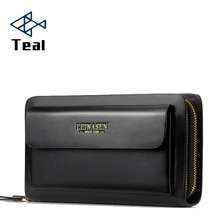 2019 Business Wallet Coin Pocket Purse Long Leather Portfolio Large Capacity Fashion Wallets Card Holder Clutch Passport Pur