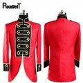 Masculino Royal Palace ropa slim fit chaqueta vestido formal ropa de hombre rojo pequeño de cola de milano chaqueta de traje de boda de Los Hombres trajes tuxedo