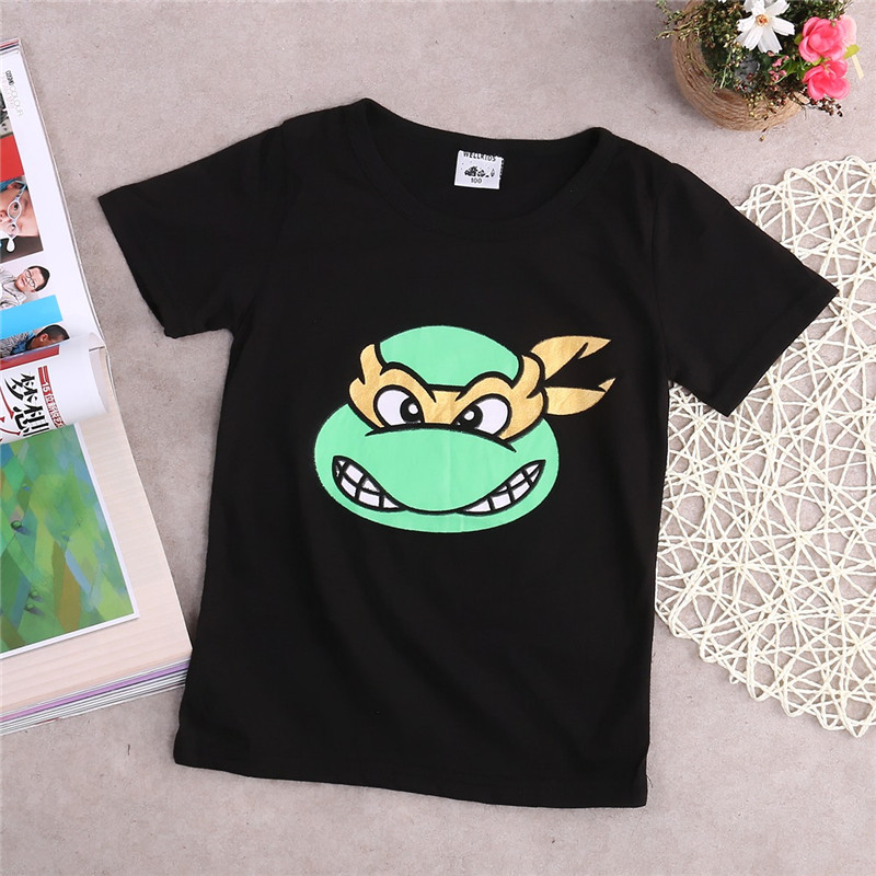 T-Shirt Toddler Blouse Clothing Short-Sleeve Print Baby-Boys Cotton Cartoon Tops