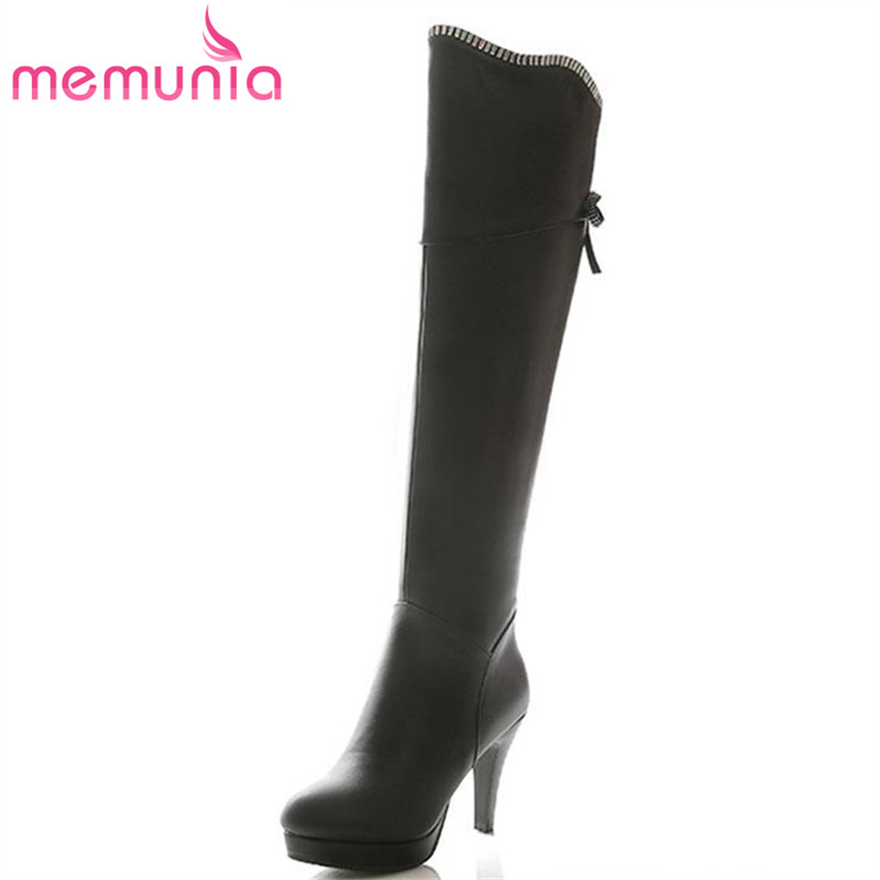 ФОТО new arrival 2017 fashion rhinestone over the knee boots stiletto high heel solid women shoes round toe boots winter shoes