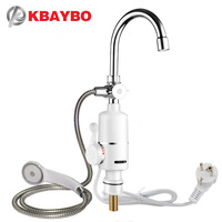 3000W Instant Tankless Water Heater Electric Shower Faucet Kitchen Instant Heating Tap Water Heater With EU