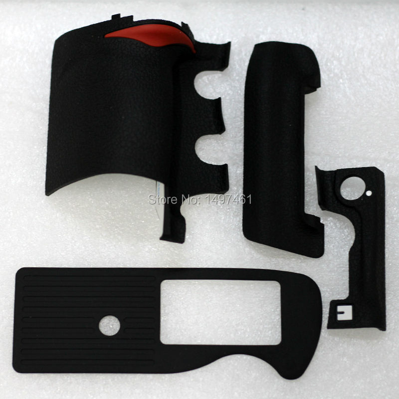 A Set Of 4PCS New Original Bady Rubber (Grip+left Side+front Shell+bottom) Repair Parts For Nikon D3 D3s D3x SLR
