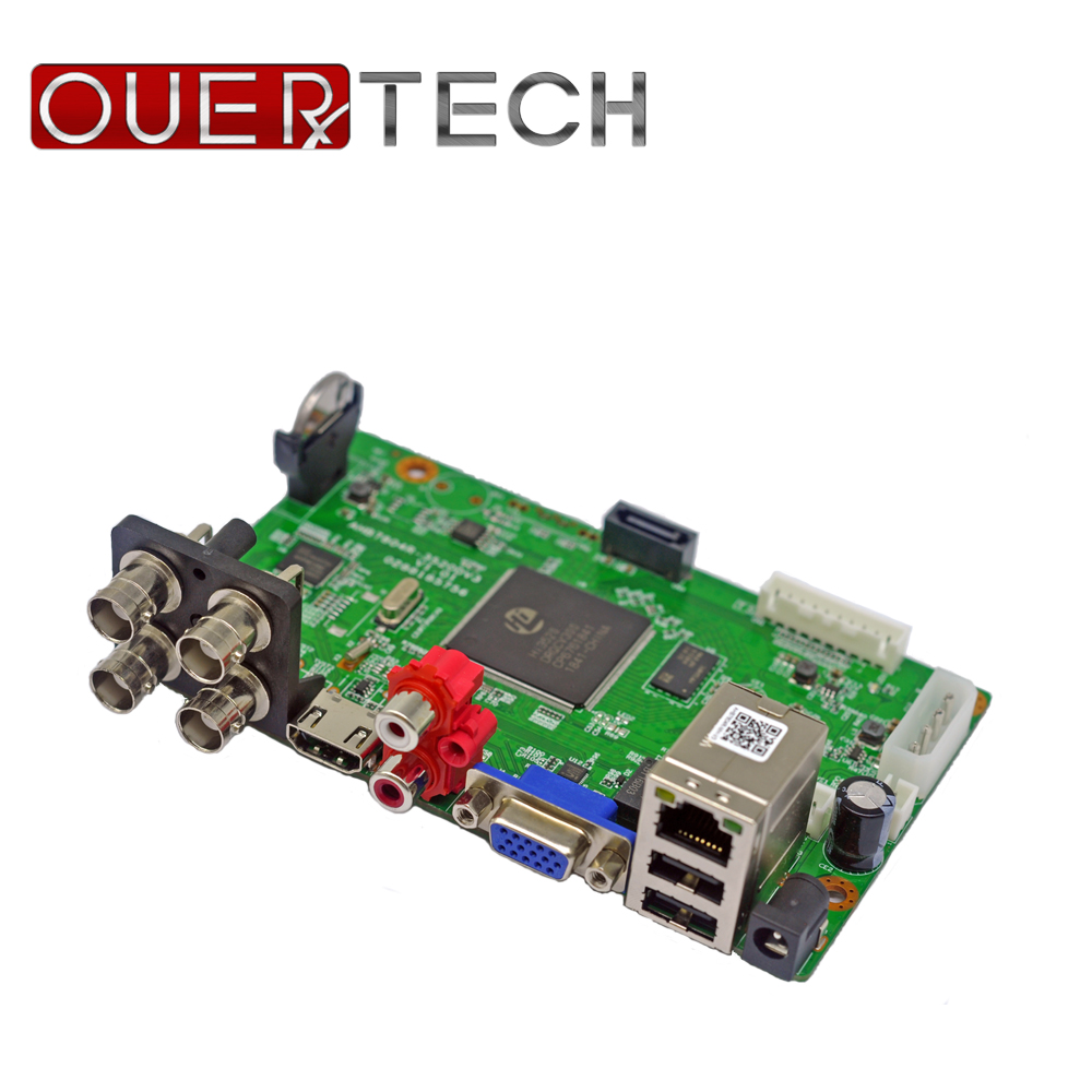 OUERTECH 5 in 1 AHD CVI TVI IP CVBS 4CH CCTV DVR board 1080N/1080P/5MP ONVIF Surveillance Video Recorde Main board