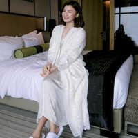 Top Quality Silk Satin Winter Velvet Embroidery Women's Long Robe Sets Long Sleeve Elegant Ladies Sleepwear 031
