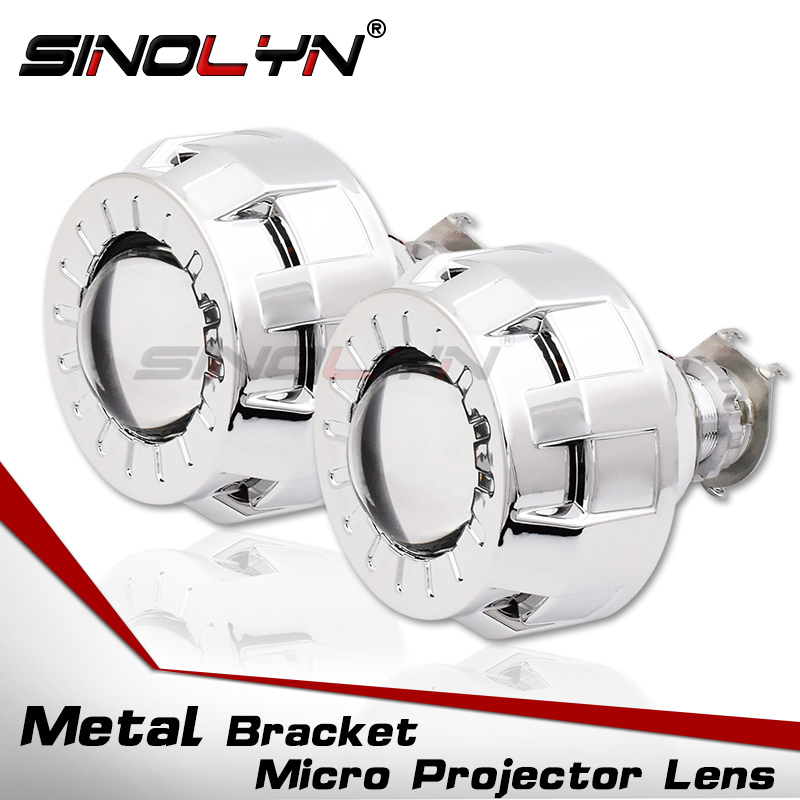 1.8 2.0 Smallest Micro HID Bi xenon Headlight Projector Lens+Mini Gatling Gun Shrouds For Cars/Motorcycle H7 H4 Car Styling1.8 2.0 Smallest Micro HID Bi xenon Headlight Projector Lens+Mini Gatling Gun Shrouds For Cars/Motorcycle H7 H4 Car Styling